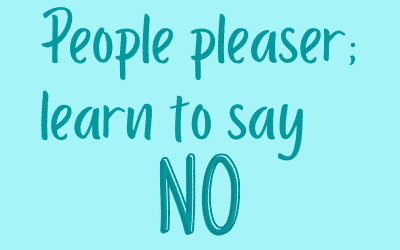 """Video: """"Stop people pleasing and dare to say NO"""""""